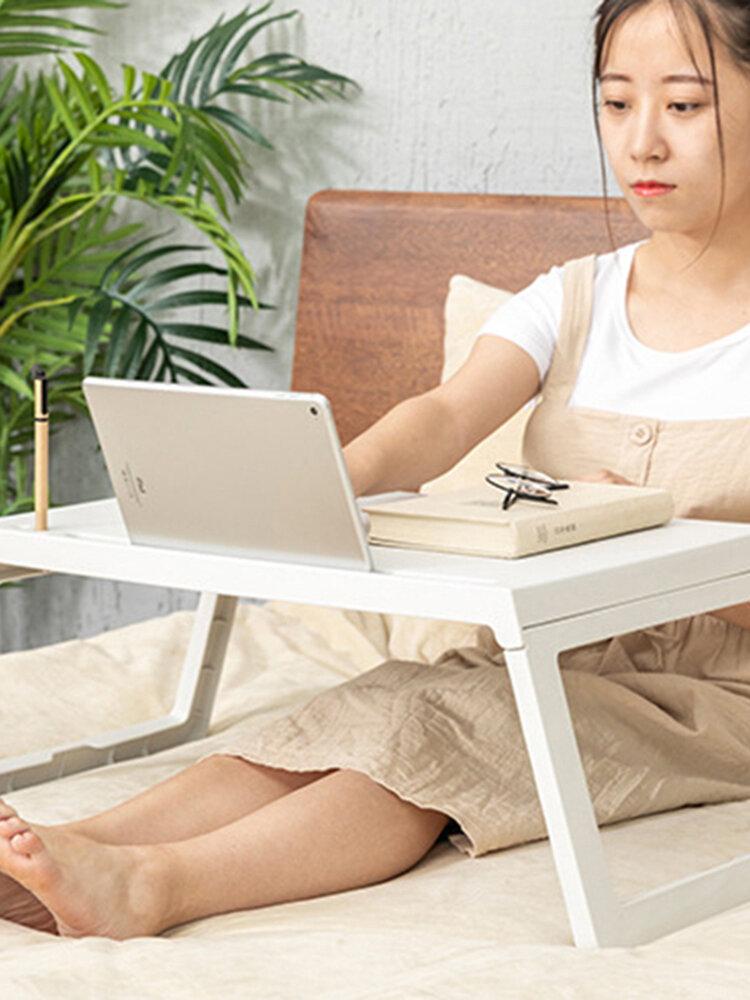 ベッド小さなテーブルポータブル折りたたみドミトリーデスクベッド怠惰なダイニングテーブルモバイルラップトップテーブル