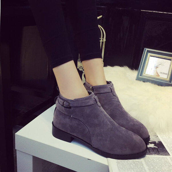 Suede Soft Ankle Boots