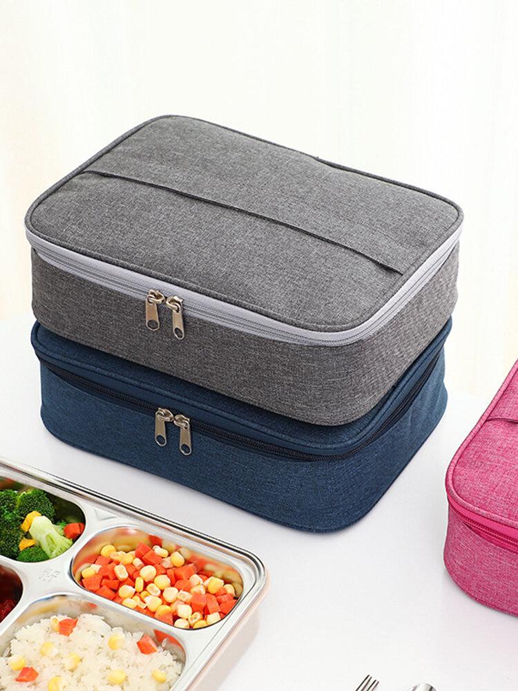 حقيبة صندوق الغداء المعزولة حقيبة صندوق الغداء الألومنيوم المستطيلة المحمولة