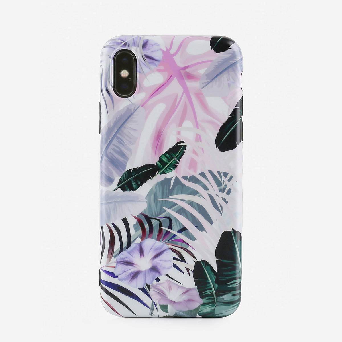 Unisex Woman Tropical Fruit Leaf Pattern TPU Soft Shell Phone Case For iPhone