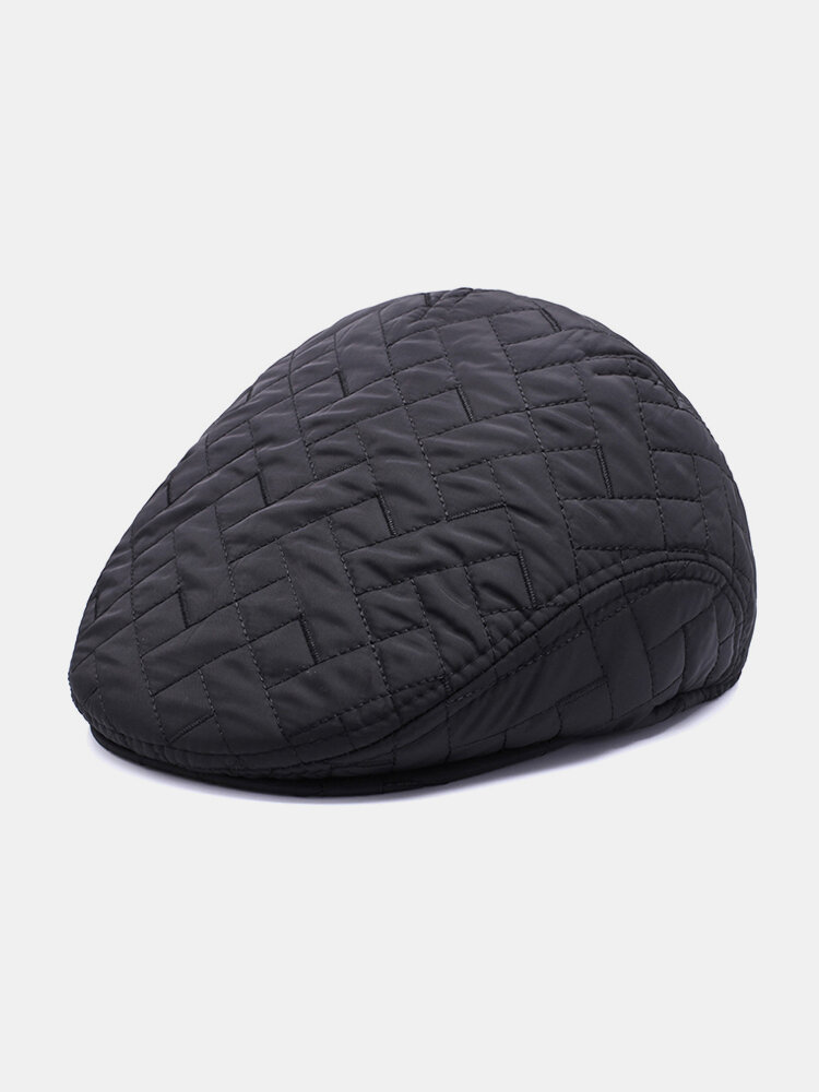 Men Winter Thickening Cotton Warm Protect The Ear Comfortable Vintage Beret Cap