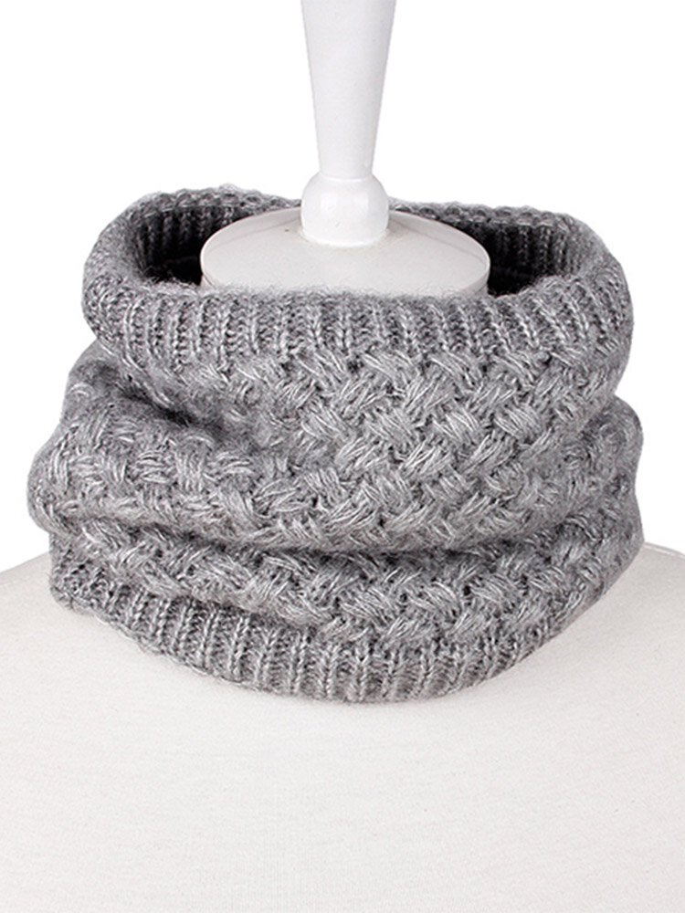 Mens Womens Knitted Thick Multifunctional Scarf Outdoor Fashion Warm Neck Scarves