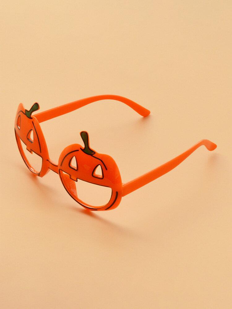 Halloween Unisex PC Cartoon Pumpkin-shape Irregular Decorative Glasses
