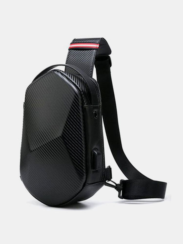 Nylon Multi-Layers USB Charging Safety Reflective Strip Large Capacity Waterproof Scratch-resistant Chest Bag