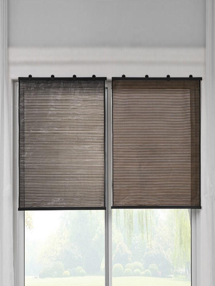 1Pc Punch-free Bedroom Sunscreen Blackout Window Shade Curtain Sun Room Heat Insulation Curtain Bathroom Breathable Door Curtain Roller Blind
