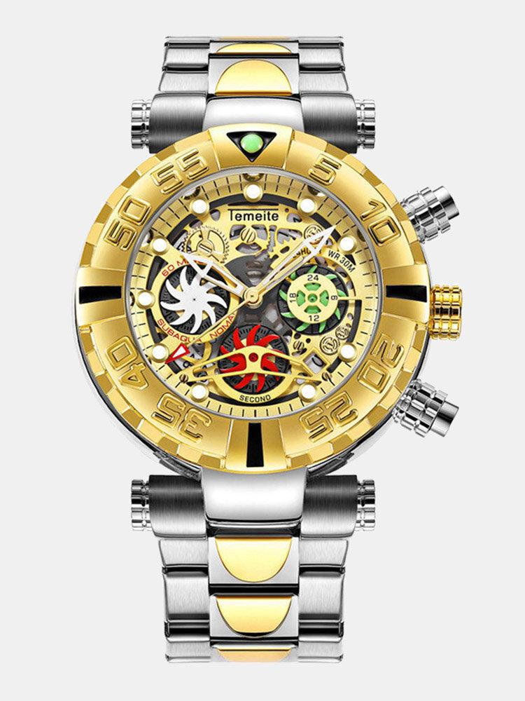 Multifunctional Men Business Watch Luminous Chronograph Calendar Quartz Watch