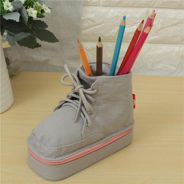 Cute Shoe Pencil Case Students Pen Pouch Storage Bag Purse Case Bags