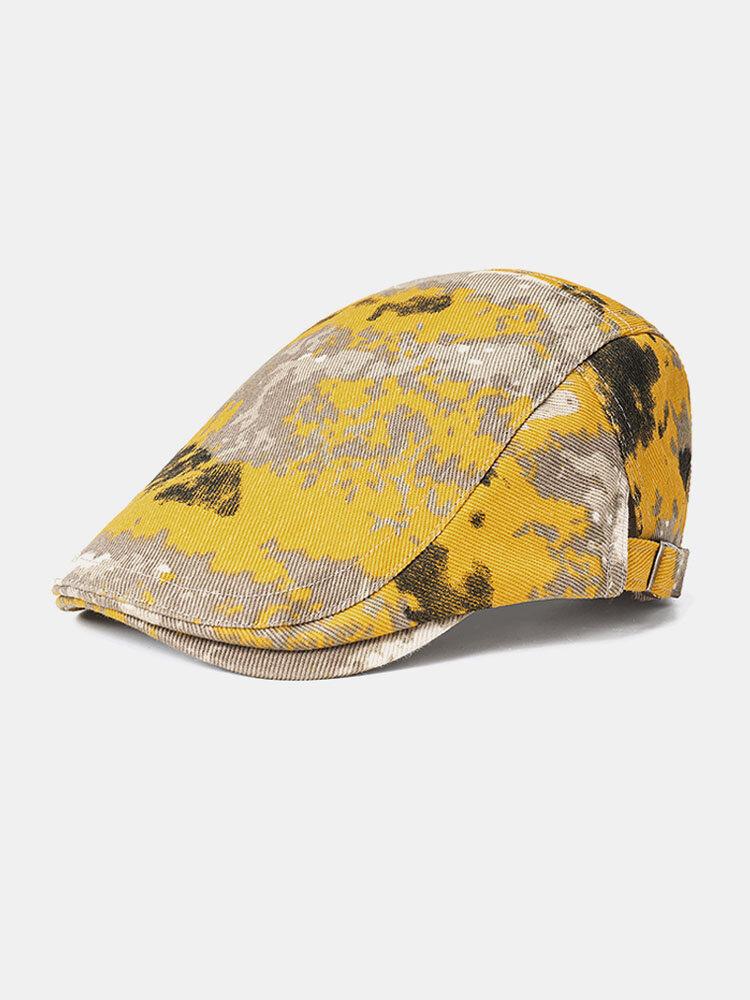 Collrown Beret Caps Print Sun Hat Tie-dye Cap
