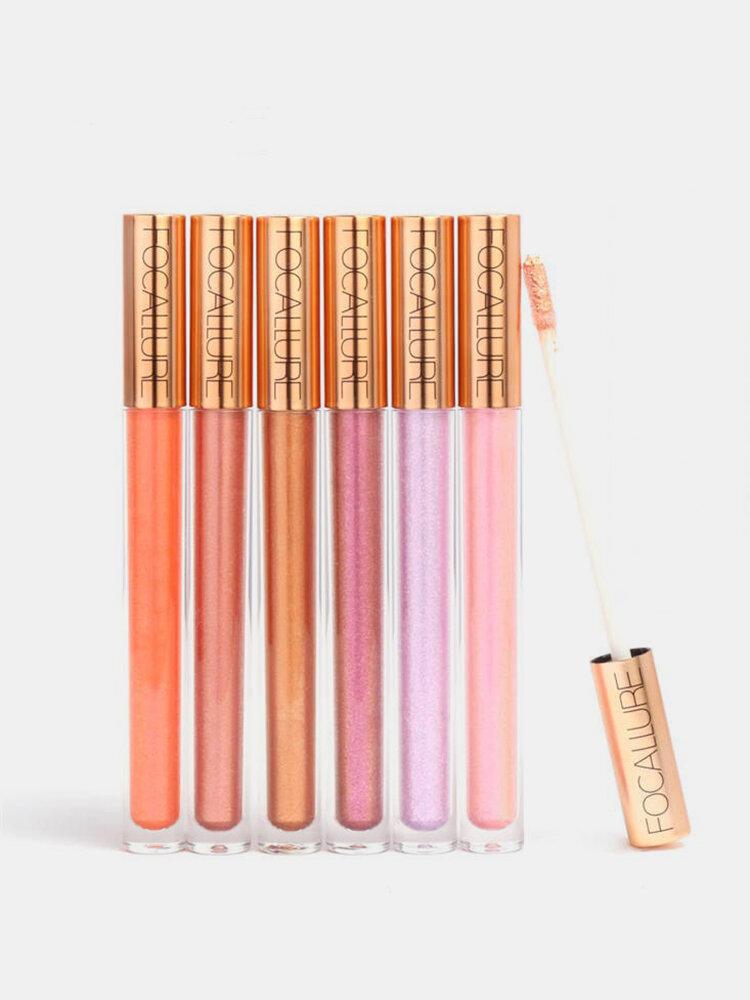 Glitter Lip Gloss Makeup Long Lasting Nude Shimmer Metallic Liquid Lipstick