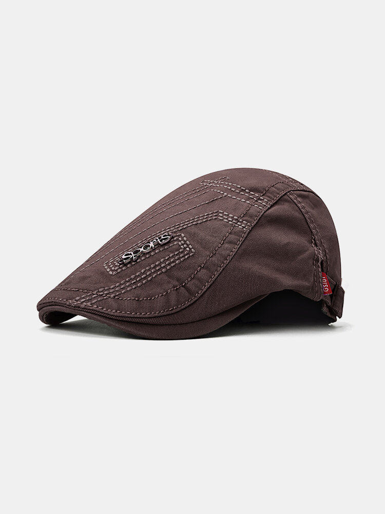Men's Comfortable Cap Spring And Summer Embroidery Cotton Adjustable Fashion Beret Cap