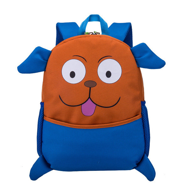 Kids Cute Animal Rubber Backpack Cartoon Schoolbag Retro Shoulder Bag