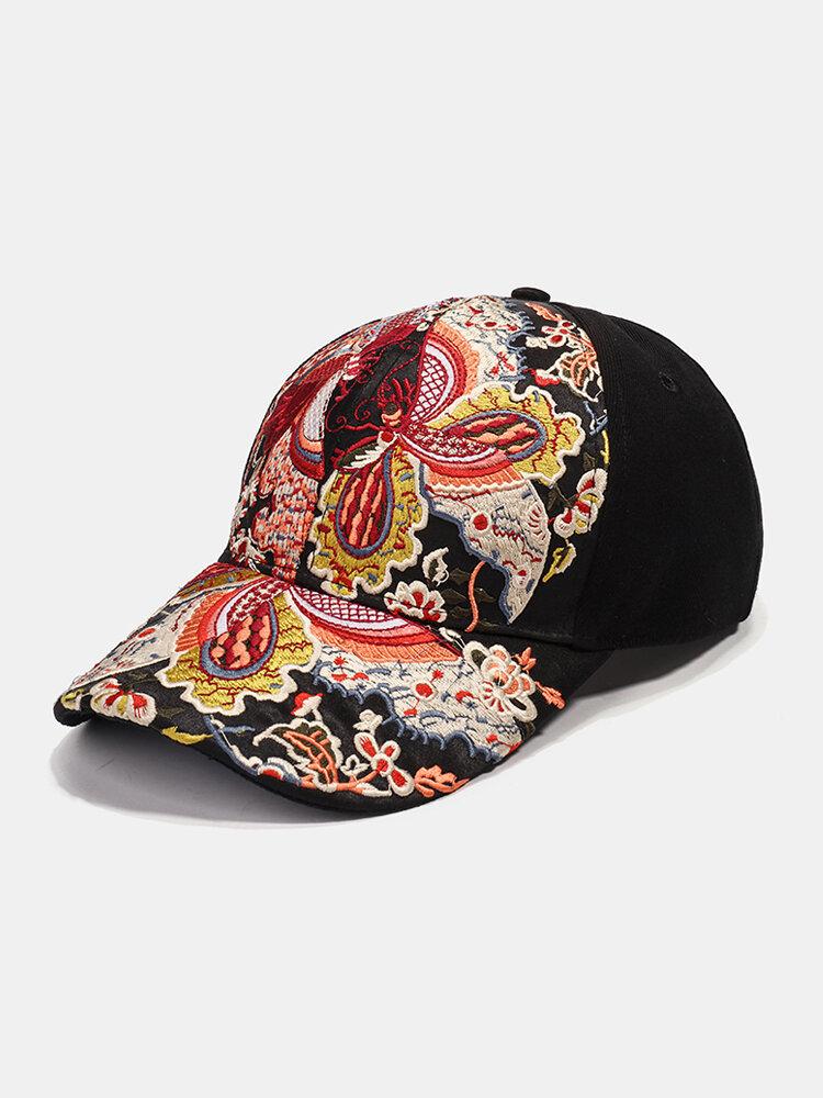 Women's Sunscreen Baseball Cap National Embroidery Flower Visor Outing Cap