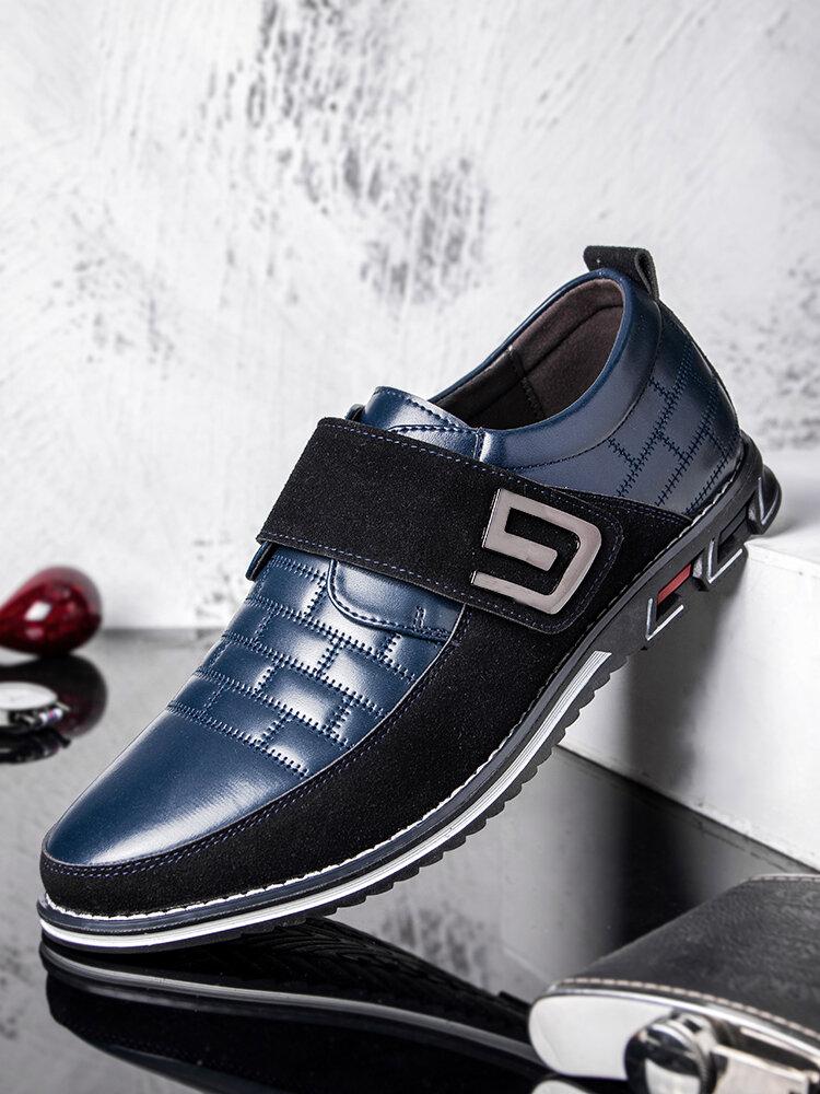 الرجال المعادن ديكور جلد طبيعي الربط عدم الانزلاق هوك حلقة الأعمال عارضة الأحذية