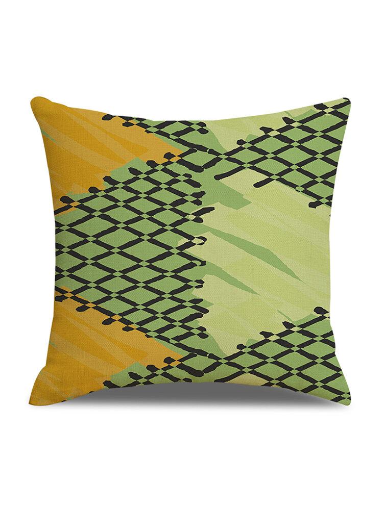 Modern Abstract Pattern Linen Cushion Cover Home Sofa Office Waist Soft Throw Pillowcases Art Decor