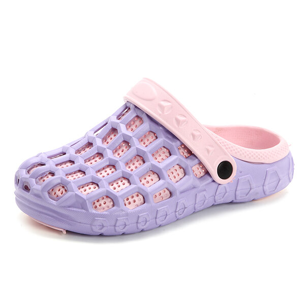 Hollow Out Multi-Way Breathable Flat Beach Slippers