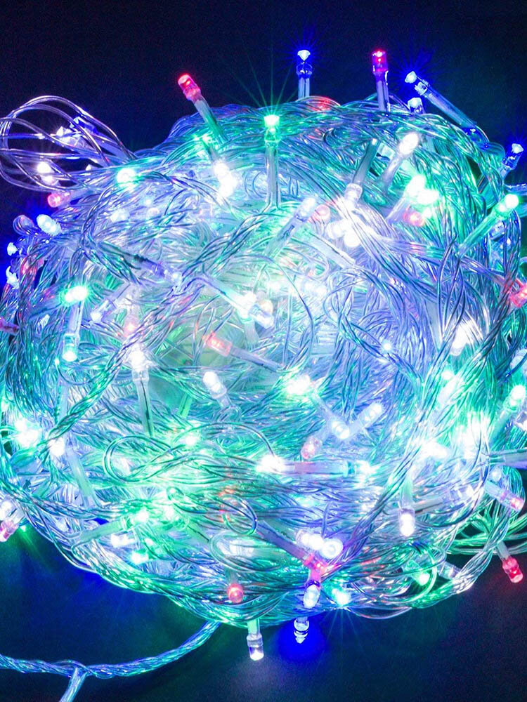 Christmas 4M 96 LED Curtain Icicle String Lights 220V Indoor Drop LED Party Decorative Light