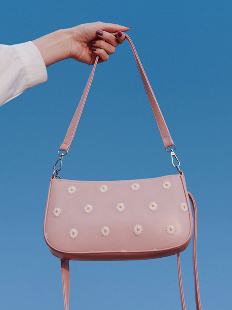 Women Dotted Daisy Printed Shoulder Bag