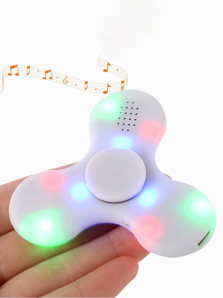 Hand Spinner Chargeable Music LED Fidget Spinner Finger Focus Reduce Stress Gadget
