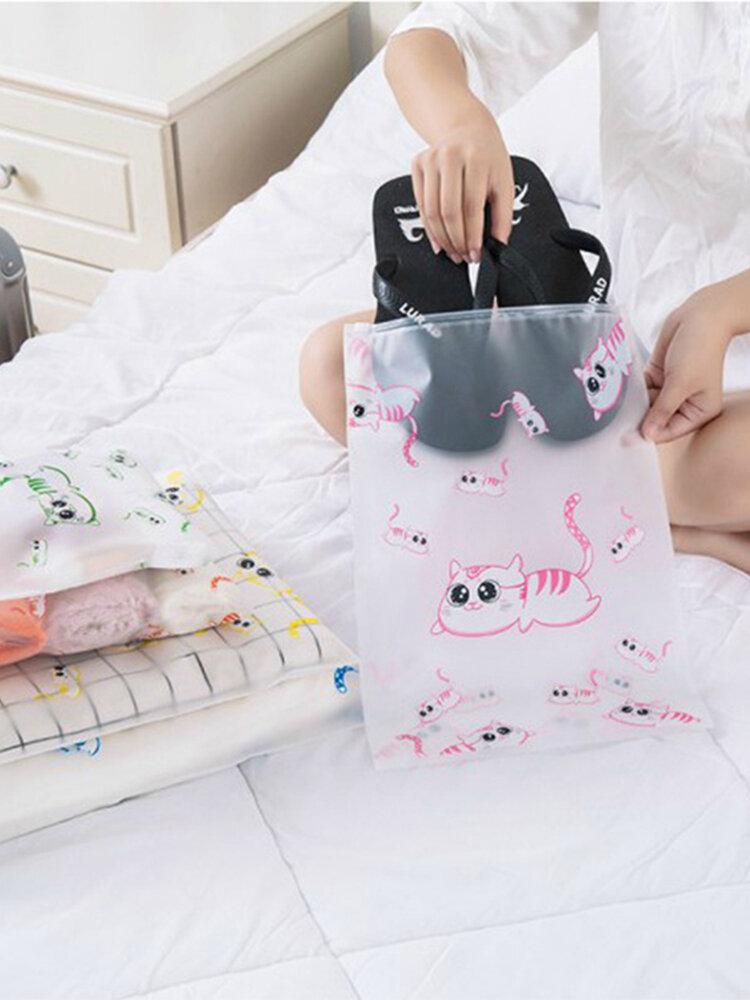 Cute Cat Travel Waterproof Storage Bag Suit Clothing Underwear Shoes Wash Makeup Sub Pack Travel Storage Bag