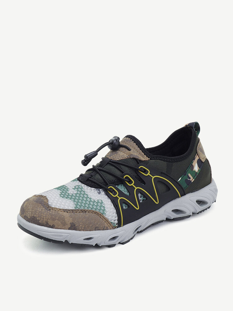 Men Mesh Fabric Water Friendly Hiking Sneakers Outdoor Upstream Shoes