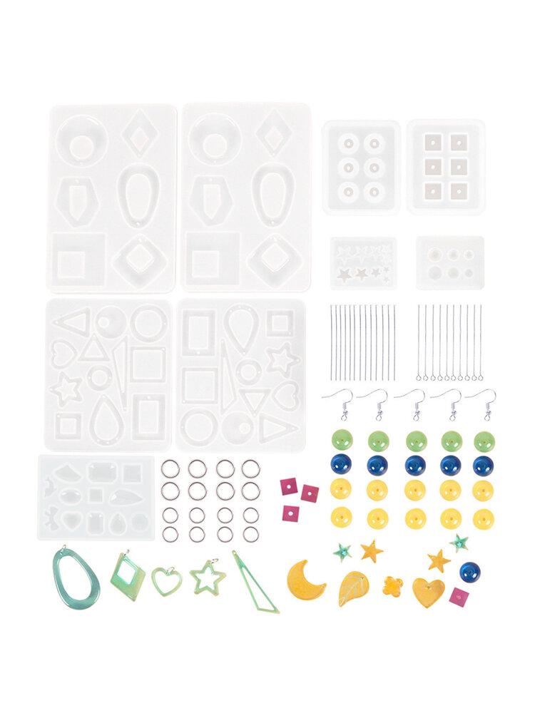 248 Pcs Earring Epoxy Resin Molds Kit Bohemia Drop Dangle Resin Earring Mold Fashion Jewelry Resin Silicone Molds Art Craft