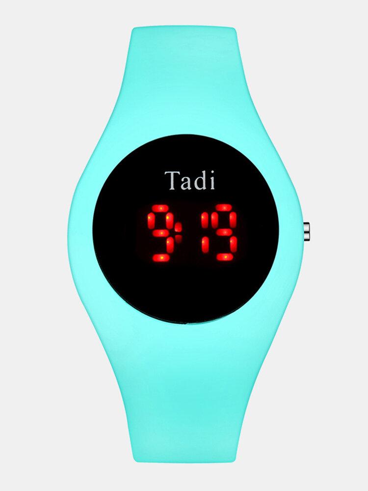 カジュアルスポーツ男性女性LED電子Watchシリコンバンド発光センサー防水デジタルWatch