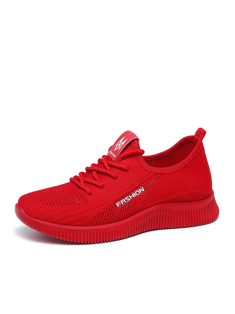Women Breathable Lace Up Lightweight Casual Sport Shoes