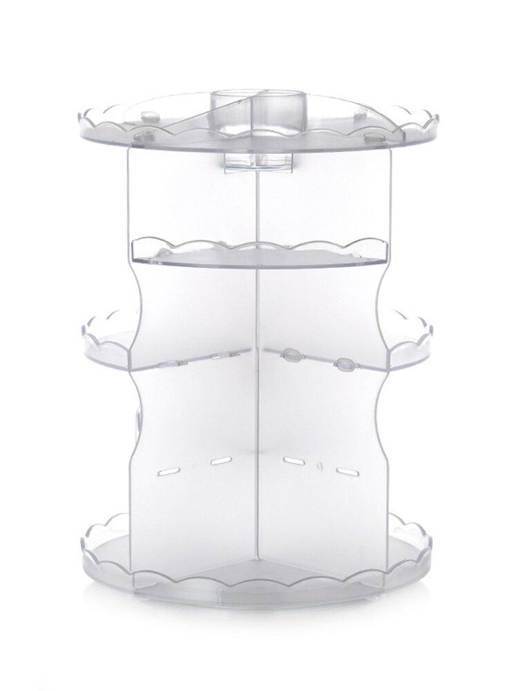Rotatable Acrylic Cosmetic Case Bathroom Skin Care Plastic Storage Box