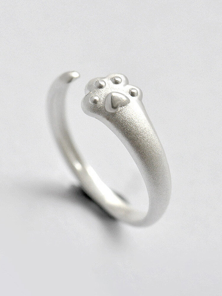 Creative Cat Claw Women Ring Adjustable Open Index Little Finger Tail Ring