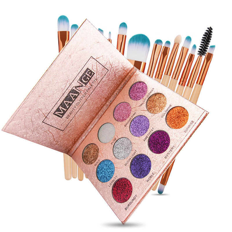 12 Colors Shimmer Eyeshadow Palette