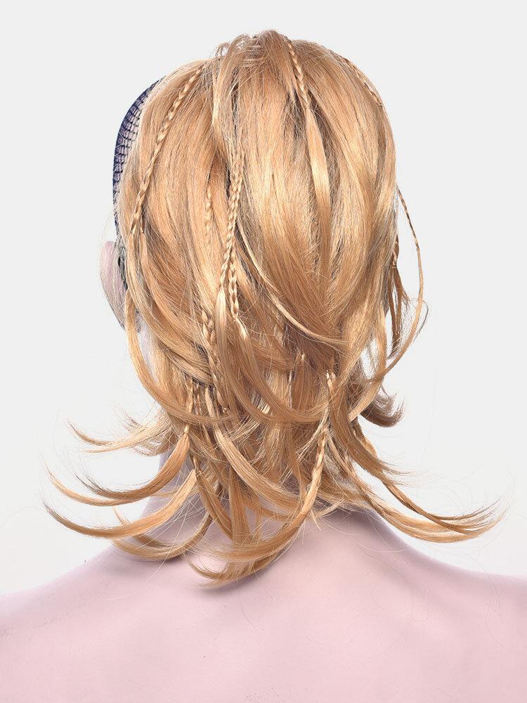 8 цветов Нерегулярный хвостик клипса Волосы Удлинения короткие вьющиеся Парик шт.