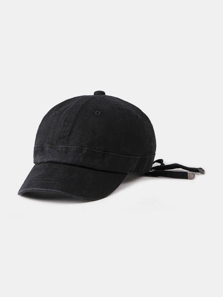Men Women Casual Vintage Comfortable Cotton Ribbon Baseball Cap Outdoor Adjustable Sun Hat