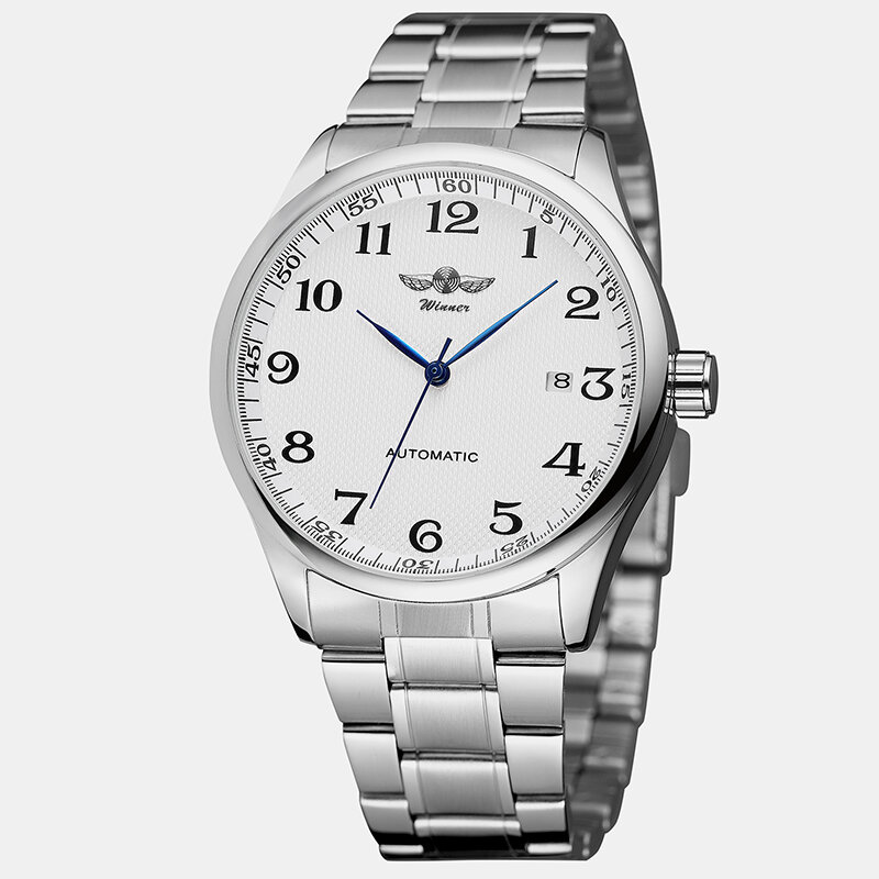 Trendy Business Men WatchAlloy Band Waterproof Full Automatic Mechanical Watch, newchic  - buy with discount