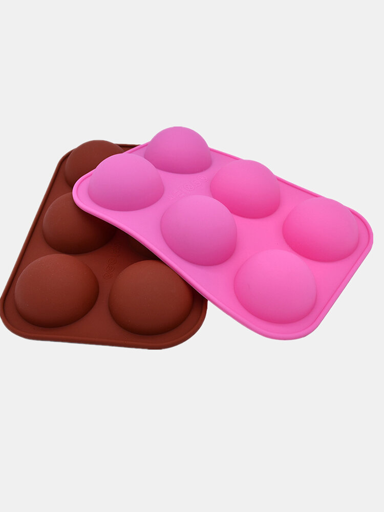 1Pc DIY Silicone Cake Mould 6 Hole Half Sphere Shape Handmade Soap Mold Silicone Chocolate Mold