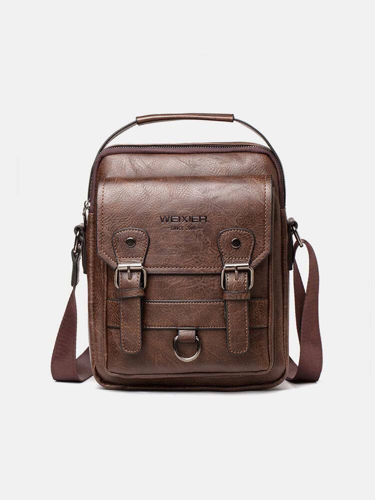 Men's Retro Shoulder Bag Casual Backpack Messenger Bag Crossbady Bag