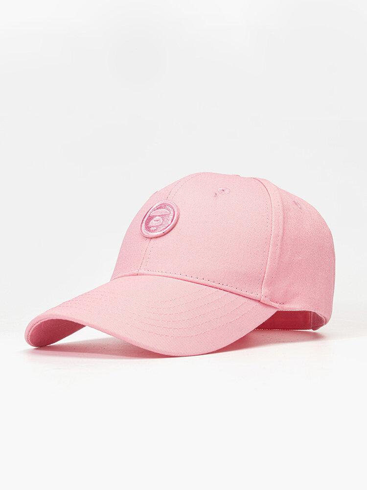 ユニセックスコットン無地幾何学模様刺繡ファッションオールマッチ野球帽