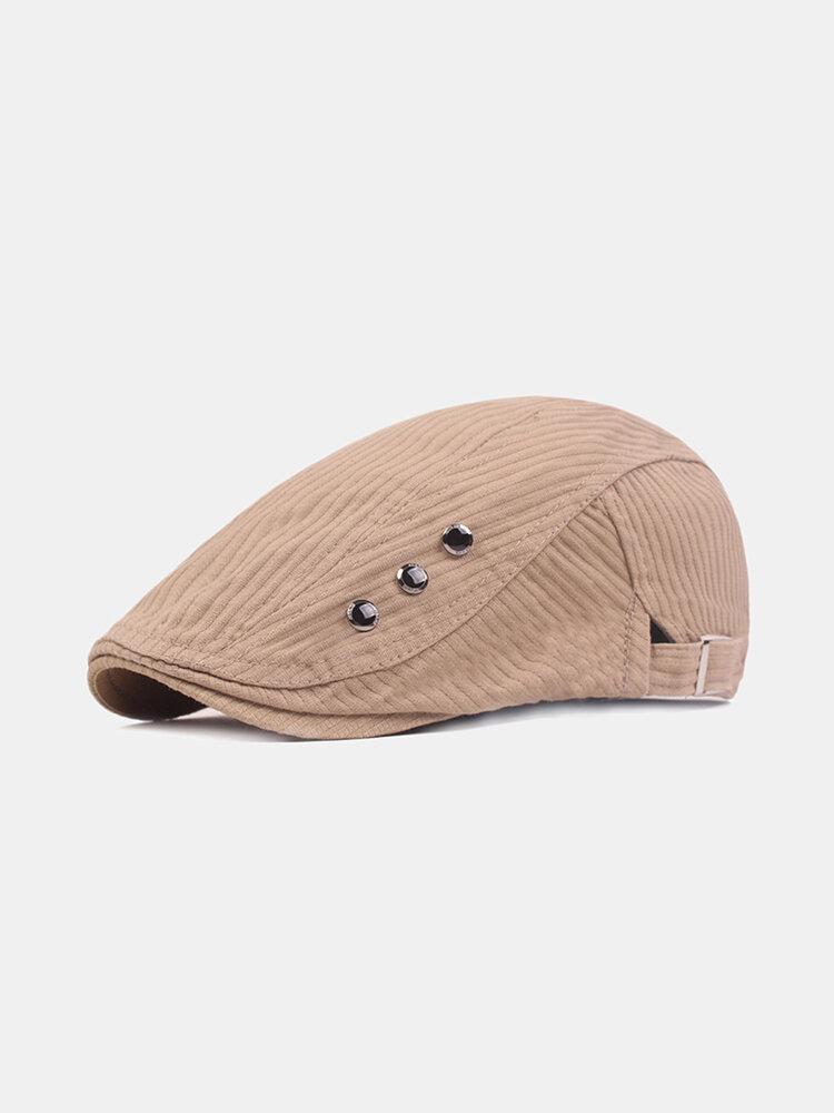 Mens Washed Cotton Beret Caps Outdoor Sport Adjustable Visor Forward Hat
