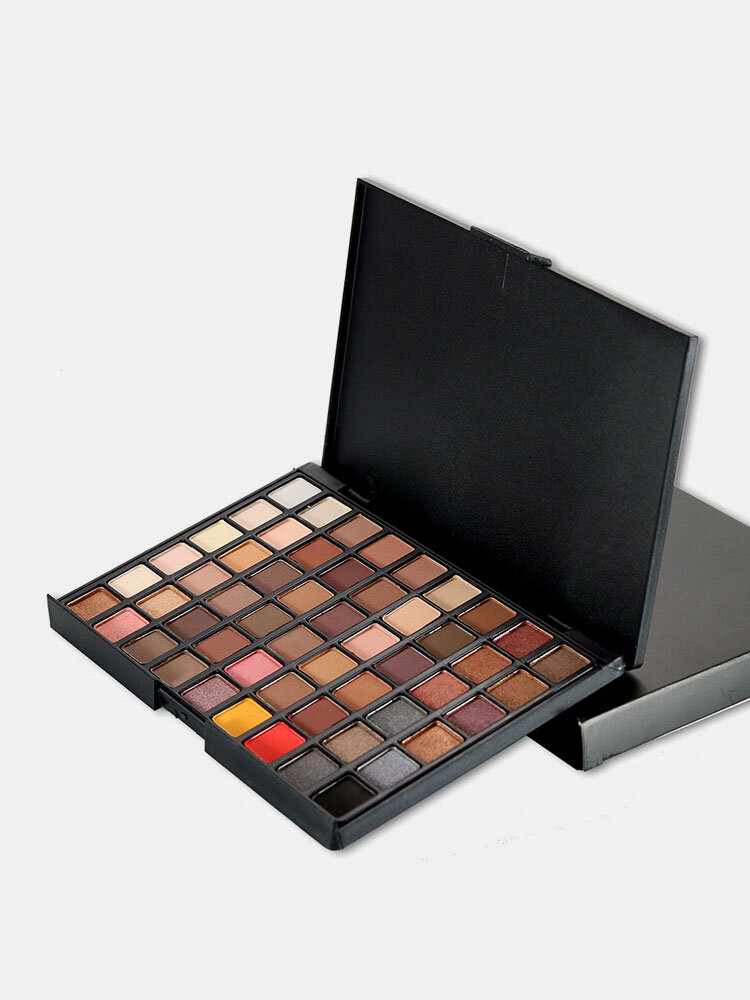 POPFEEL 54 Colores Eye Shadow Shimmer Glitter Impermeable Paleta de Sombra de Ojos Mate Natural