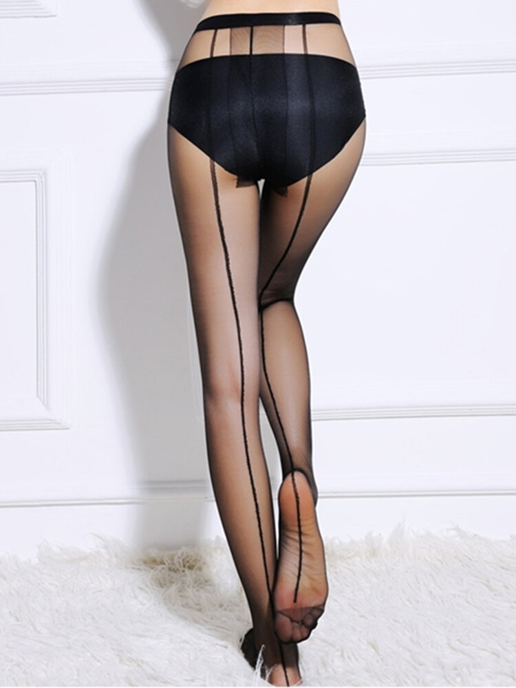 Women Lady Girl Backside Line Sexy Tattoo Stockings Tights Pantyhose