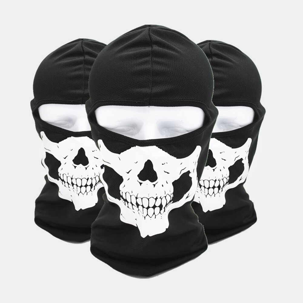 Halloween Outdoor CS Head Cover Skull Pattern Mask