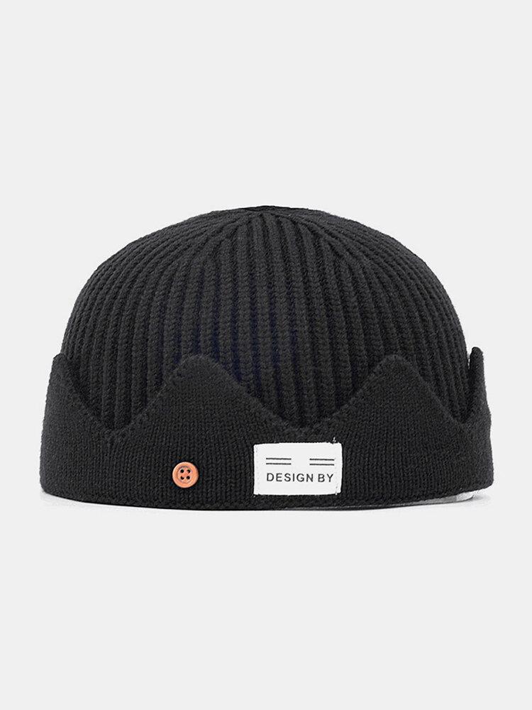 Men & Women Knitted Hat Autumn And Winter Woolen Melon Leather Hat Warm Men And Women Hats Skull Caps