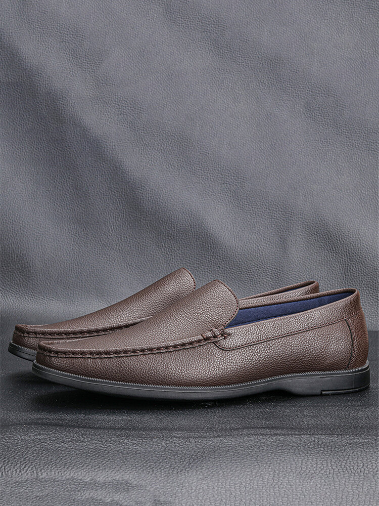 Men Casual Slip-on Hard Wearing Rubber Sole Daily Driving Shoes