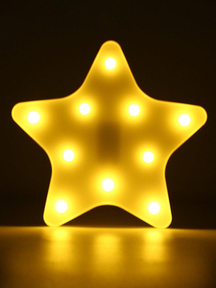 Cute Star LED Night Light Wall Battery Lamp Baby Kids Bedroom Home Decor