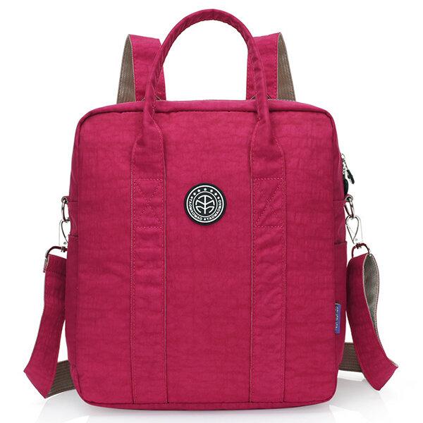 Jinqiaoer Women Nylon Satchel Bag Backpack Students Rucksack Crossbody Bag