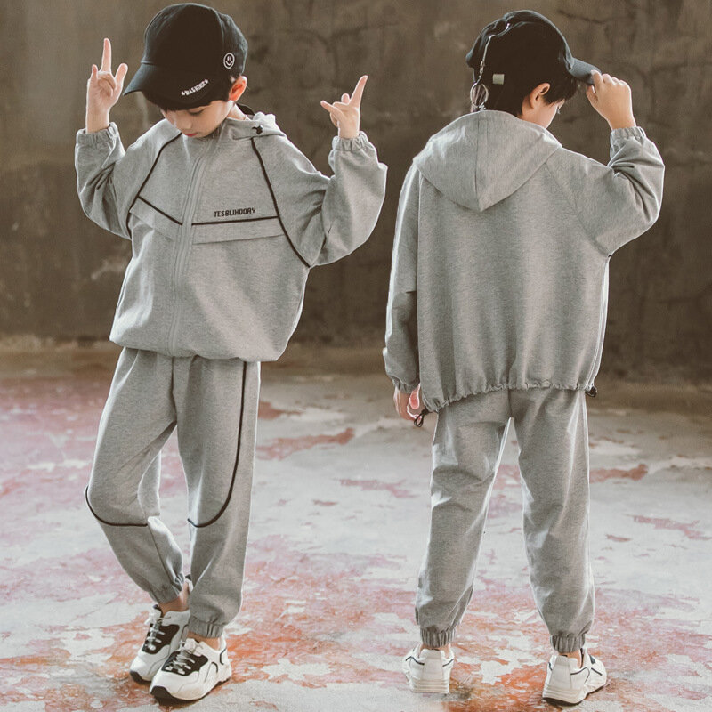 Boy Casual Card Line Cardigan Set Two-piece Children's Clothing