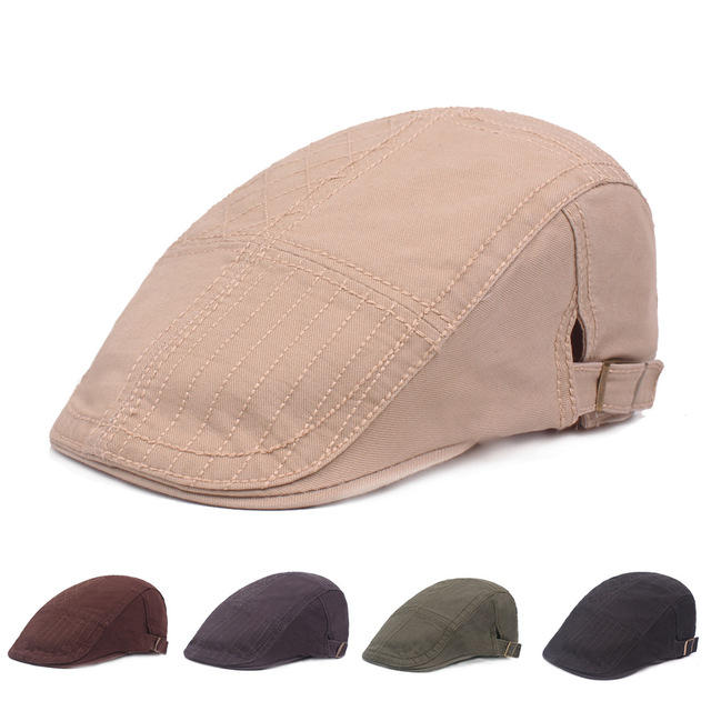 Cotton Embroidered Beret Literary Youth Cap Male Hat Forward Cap Middle-aged Hat