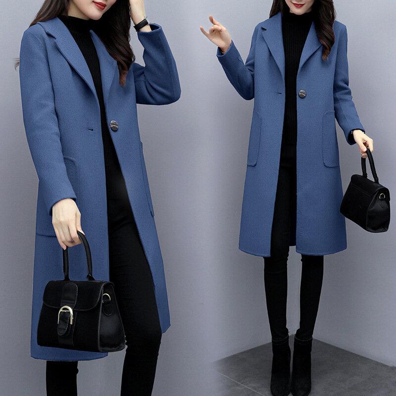 Woolen Coat Long Section Knee Over The Coat