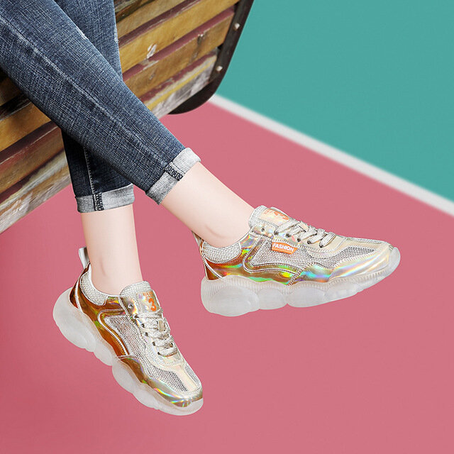 Breathable Sports Shoes Ladies New Season Net Shoes Season Wild From The Sky Net Casual Shoes