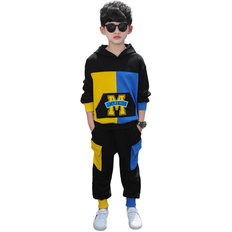 Casual_Stitching_Set_Handsome_Childrens_Clothing_Twopiece