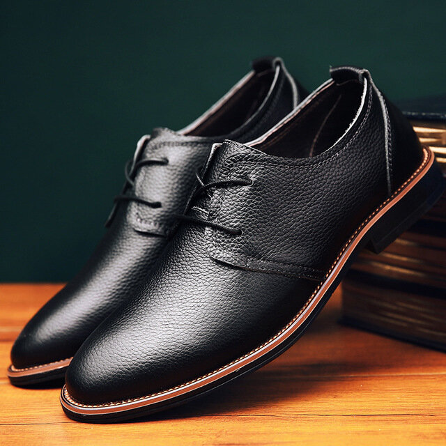 Season_New_Casual_Shoes_Mens_Leather_Business_Shoes_Mens_British_Trend_Peas_Shoes_Mens_Fashion_Tie_Men